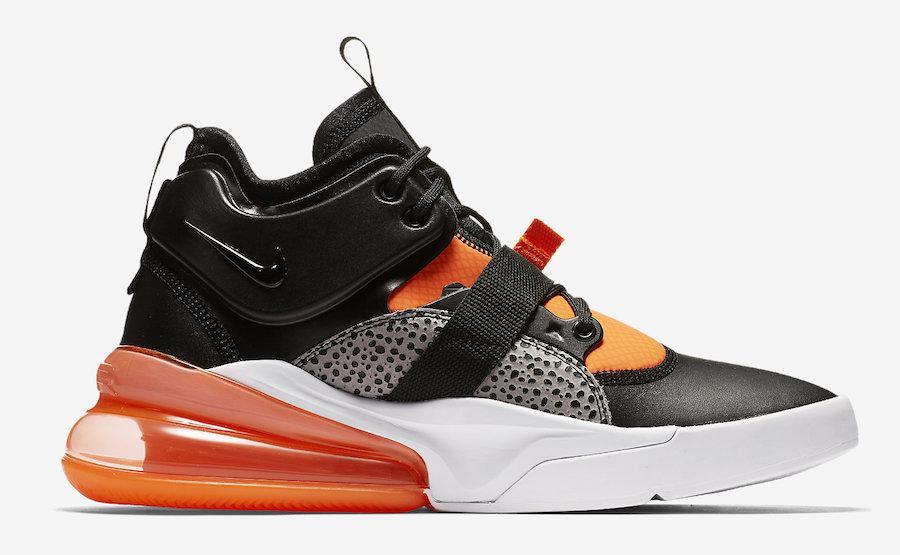 """Кроссовки Nike Air Force 270 Safari """"Orange"""" (Оранжевые)"""
