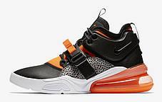 "Кроссовки Nike Air Force 270 Safari ""Orange"" (Оранжевые), фото 2"