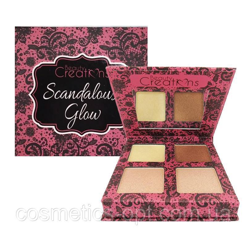 Палетка хайлайтеров Beauty Creations Scandalous Glow Highlight Palette (реплика)