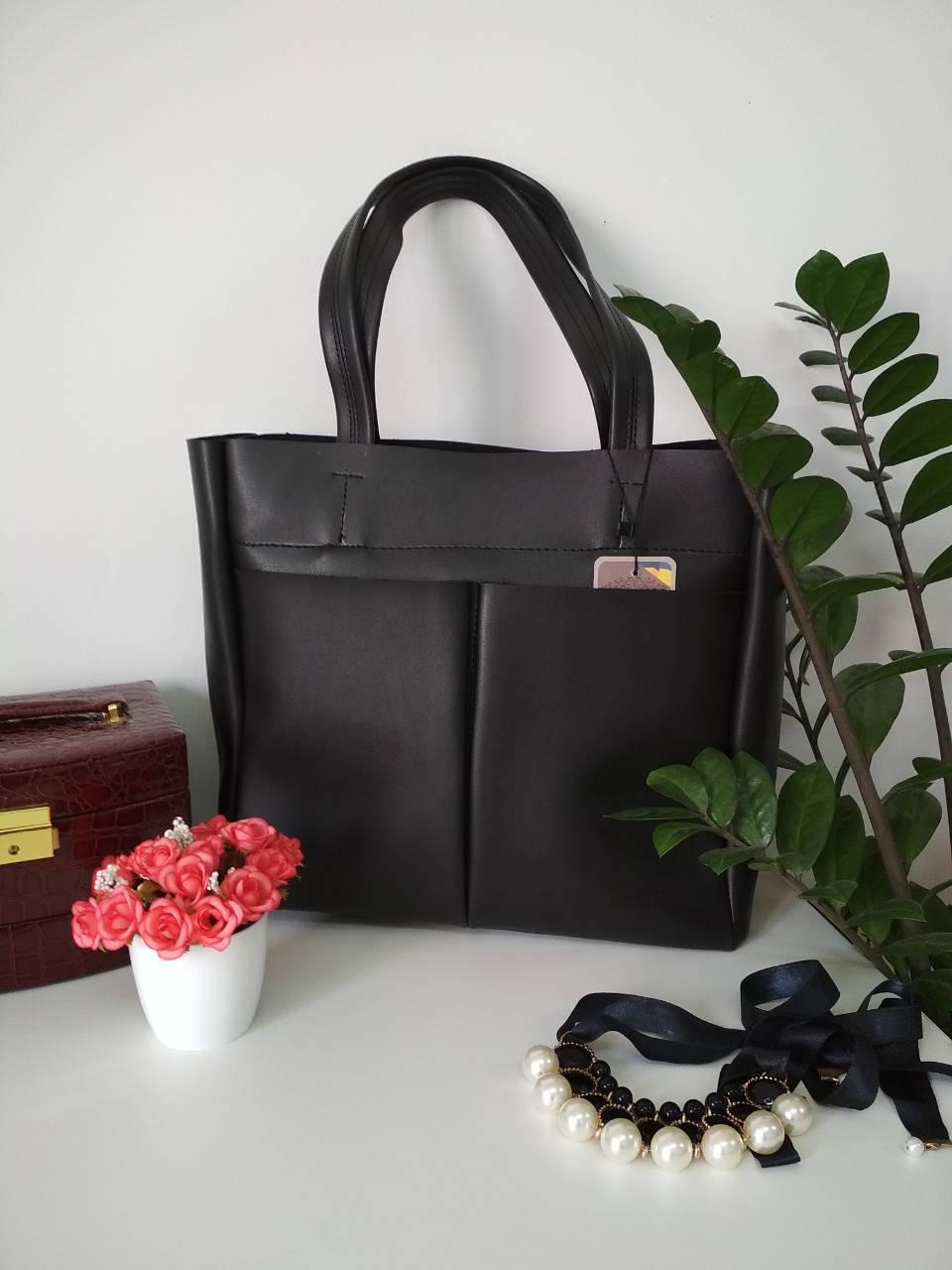 Стильная женская сумка с карманами