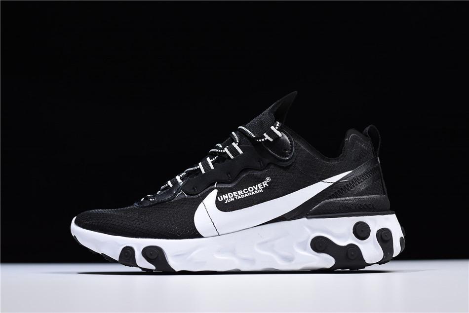 Кроссовки Nike React Element 87 Undercover Black (Черные)