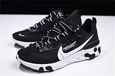 Кроссовки Nike React Element 87 Undercover Black (Черные), фото 3