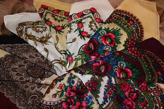 Українська хустка біла маленька Колосок, фото 3