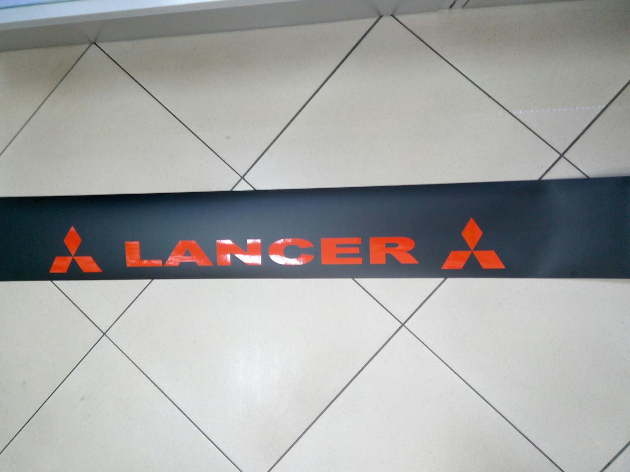Заказ покупателя наклейка на лобовое стекло LANCER