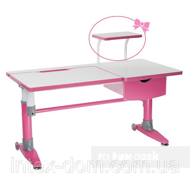 Парта-трансформер для школьника FunDesk Ballare Pink с выдвижным ящиком
