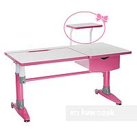 Парта-трансформер для школьника FunDesk Ballare Pink с выдвижным ящиком, фото 1