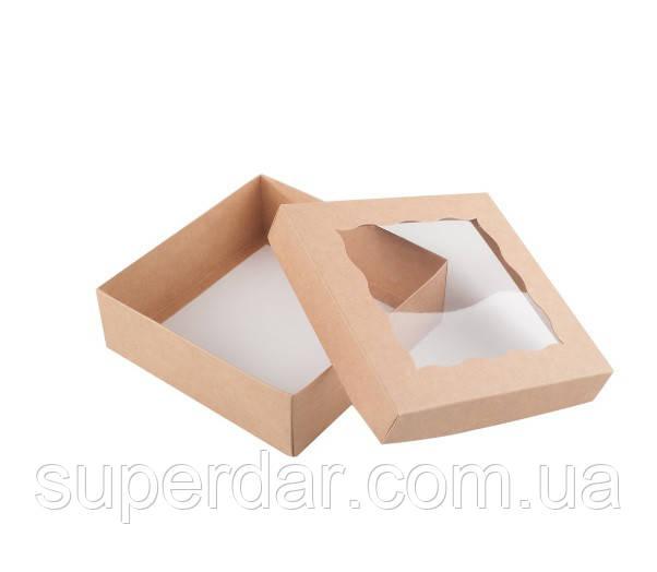 Коробка для пряников 150х150х50 мм., крафт