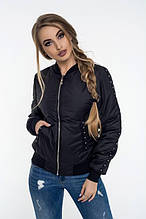 Женская куртка осень-весна Агнесса черный (42-52)