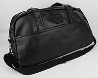 Стильная спортивная, дорожная сумка Philipp Plein 1324 черная, искусственная кожа, фото 1