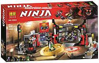 """Конструктор Bela 10804 """"Штаб-квартира Сыновей Гармадона"""" 558 деталей. Аналог Lego Ninjago 70640, фото 1"""