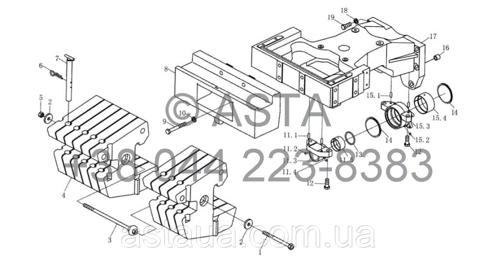 Передний противовес (10 блоков балласта) на YTO-X1204