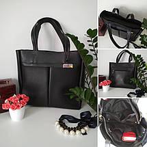 Стильная женская сумка с карманами, фото 2