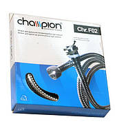 Шланг для душа Champion Chr. F02 растяжной 150-200cm ХРОМ, d-15 с подшипником