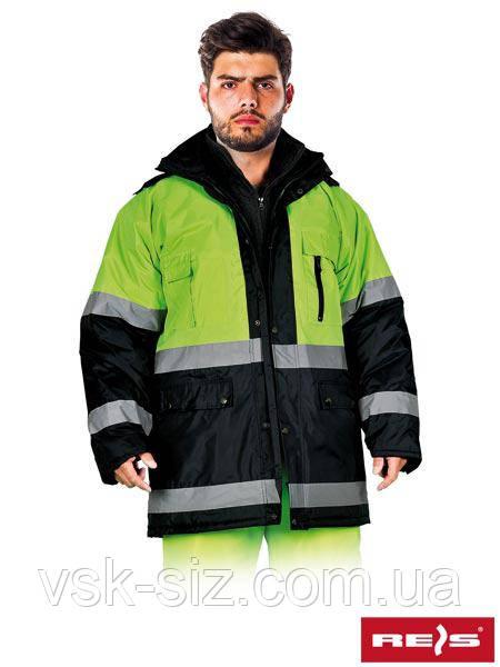 Зимняя куртка с светоотражающими полосками REIS BLUE YELLOW