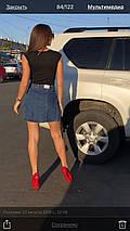 Джинсовая юбка на пуговицах с накладными карманами  , фото 2