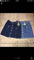 Джинсовая юбка на пуговицах с накладными карманами  , фото 3