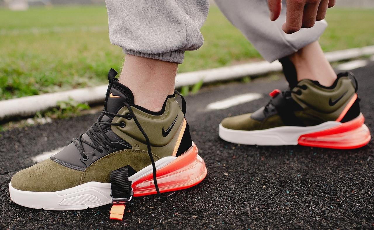 "Кроссовки Nike Air Force 270 Medium ""Olive"" (Зеленые)"