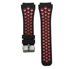 Спортивний ремінець з перфорацією для годин Xiaomi Huami Amazfit SportWatch 2 / Amazfit Stratos - Black&Red