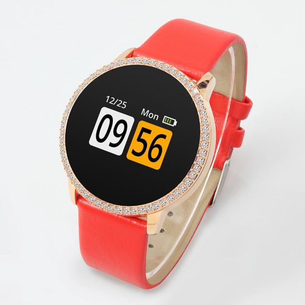 """Женские умные часы Robot Colmi A1 смарт-часы с GPS 1,35"""""""" 170mAh Красно-Золотистый"""