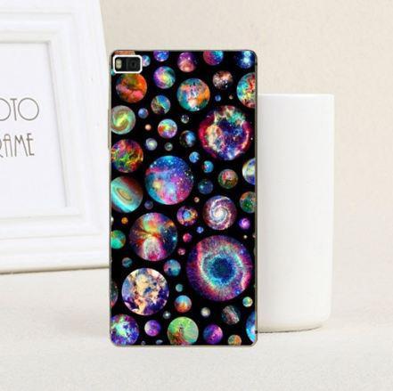 Чехол силиконовый бампер для Huawei P8 lite с рисунком Планеты