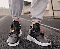 """Кроссовки Nike Air Force 270 """"Black/White"""" (Черные/Белые), фото 2"""