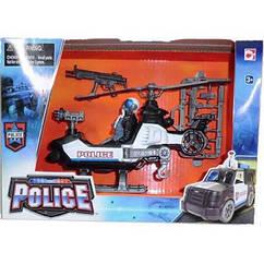 Уценка! Игровой набор Полиция Вертолет. Chap Mei 372504