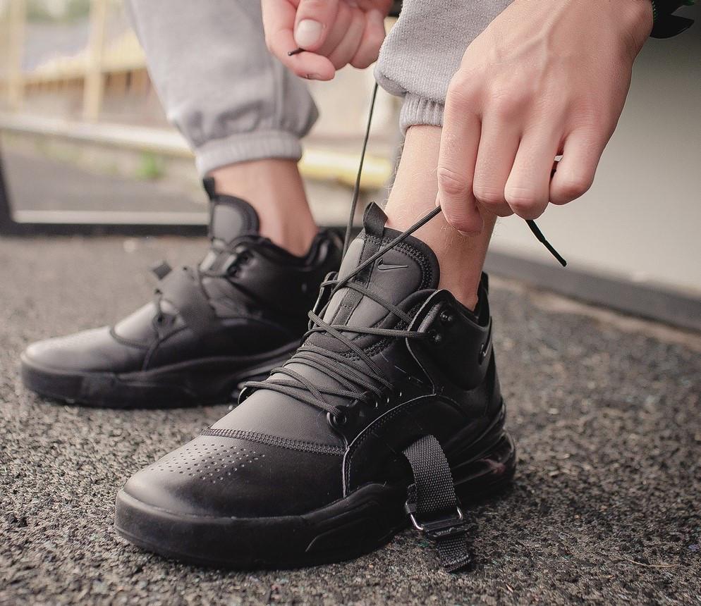 """Кроссовки Nike Air Force 270 """"Triple Black"""" (Черные)"""