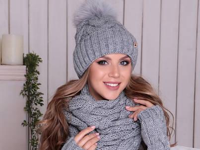 Женские комплекты шапка и шарф