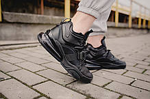 "Кроссовки Nike Air Force 270 ""Triple Black"" (Черные), фото 3"