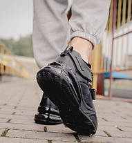 "Кроссовки Nike Air Force 270 ""Triple Black"" (Черные), фото 2"