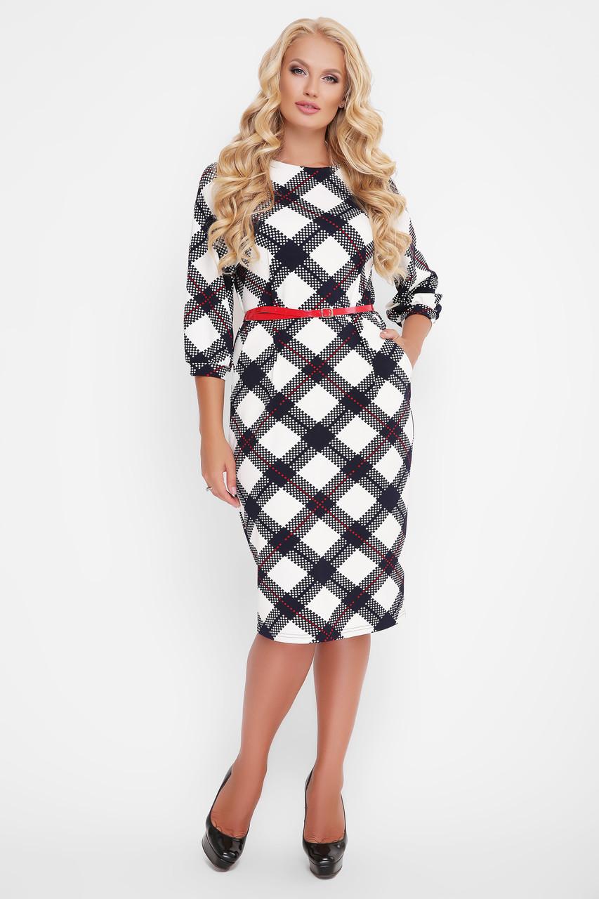 Трикотажное женское платье Кэйт шахматка