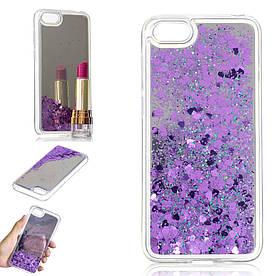 Чехол накладка для Huawei Honor 7A Dua-L22 силиконовый, Aqua Series, фиолетовый