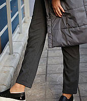 Женские брюки из шерсти серые
