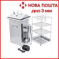 """Коптильня холодного и горячего копчения """"Koptilov elite box"""" из нержавеющей стали"""