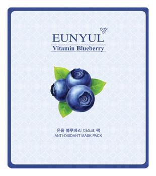 Тканевая маска укрепляющая с черникой EUNYUL Blueberry Mask Pack - 30 мл