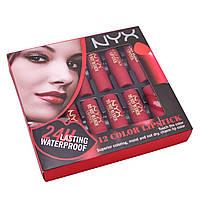 Набор помад NYX matte lipstick, 12 шт