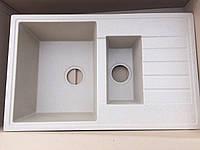 Бежевая гранитная кухонная мойка прямоугольная на две чаши AVANTI 7949