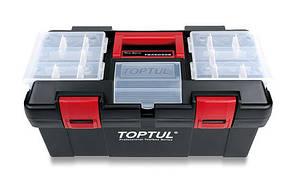 Ящик для инструмента  3 секции (пластик) Toptul TBAE0302