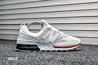 Мужские кроссовки New Balance 574 Sport Edition Gray / White, Реплика, фото 1