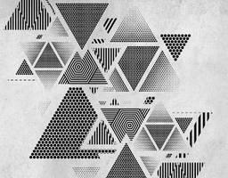 3д Фотообои Треугольники