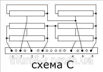 Схема блока резистора
