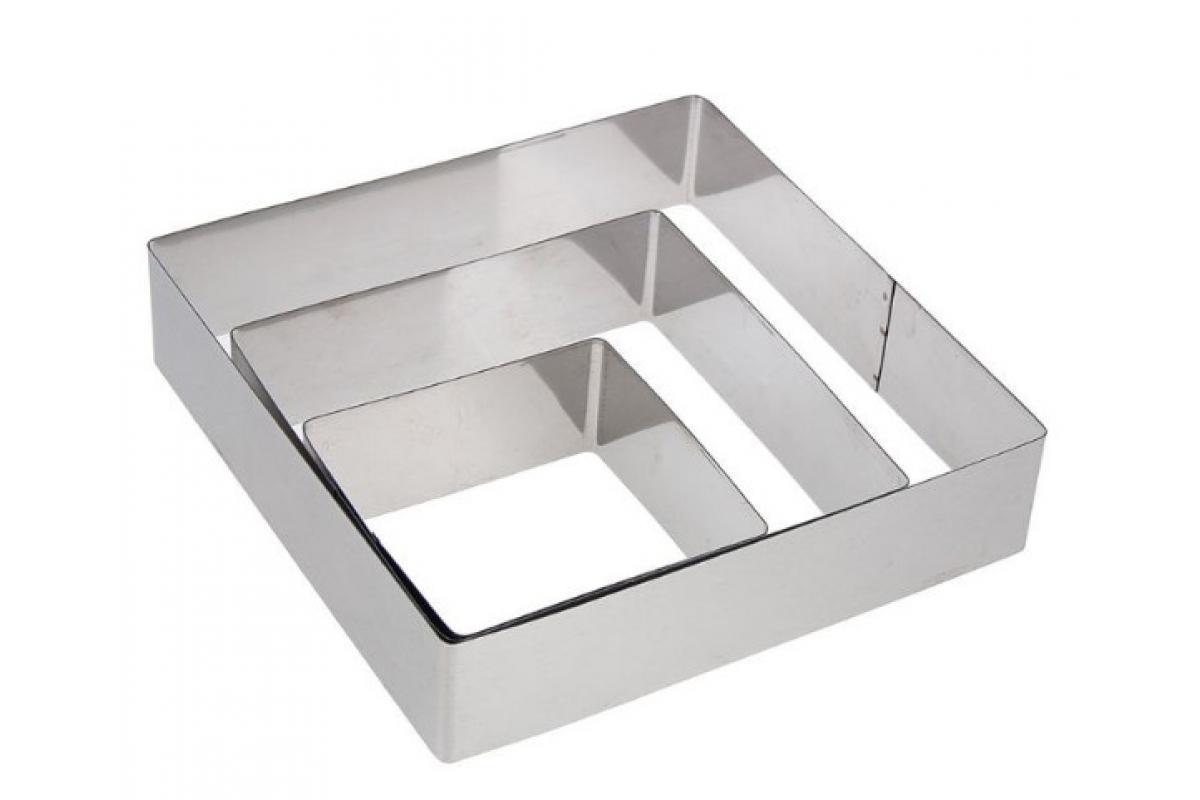 Набор квадратных форм для десертов, форма для выпечки квадрат, для сборки