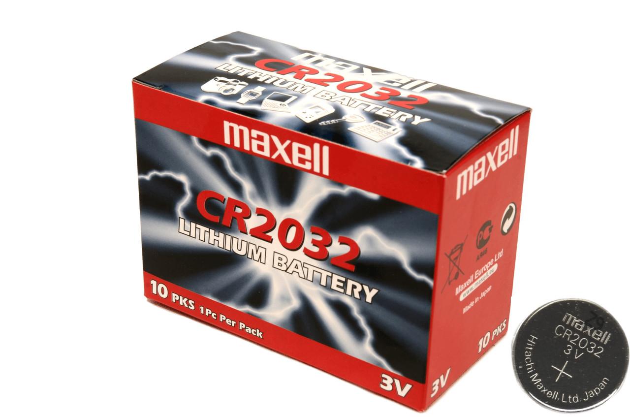 Батарейка Maxell CR2032,10 шт