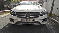 Mercedes W213 Накладка на передний бампер (нерж)
