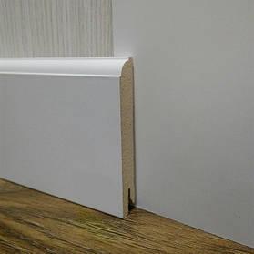 Плінтус МДФ білий високий пристенный14.2х95х2400мм., Pedross Італія