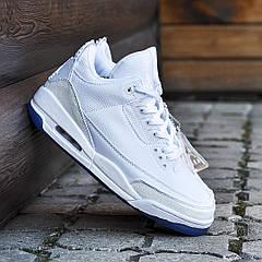 Мужские кроссовки Nike Air Jordan 3, Белые, кожа