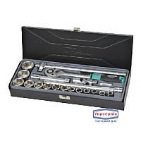 "Набор головок Whirlpower 2"" 10-32 мм 19 ед. в металическом кейсе"