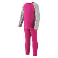 Комплект термобелья Reima серый-розовый 526081