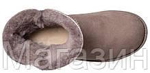 Женские угги UGG Classic Cuff Mini Stormy Gray (мини Угги Австралия) оригинал серые, фото 3