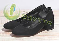 Туфли замшевые женские Leader style арт. 2179 ч/з 35-39 размеры, фото 1